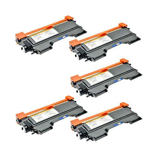 Logic-Seek 5 Toner kompatibel für Brother TN-2220 XL HL-2215 2220 2230 2240 2270 2250 2275 2280 2200 D DR L DN DNR DW DCP-7060 7065 7070 D N DN DW Fax 2840 2845 2940 2950 MFC-7360 7362 7460 N DN D DW
