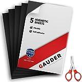 GAUDER Feuille Aimantée Autocollante | Plaque Magnétique Aimantée | Pour frigo, photos, panneaux et cartes postales