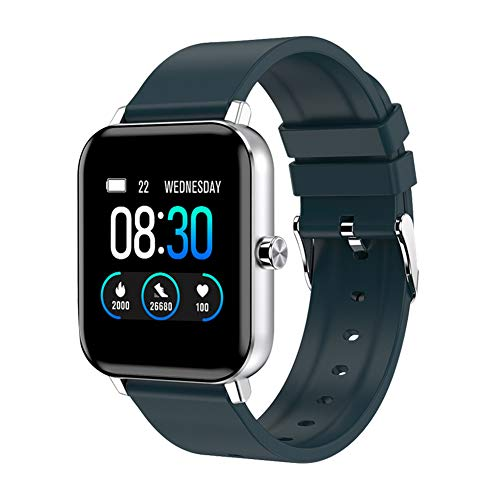 AOKEY Smart Watch for Android and iOS Phones, Fitness Tracker Watch for Men Women, Heart Rate and Sleep Monitor, Pedometer, IP68 Waterproof Activity Tracker (Blue)