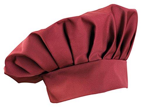 Kochmütze, Farbe zur Auswahl, Profimütze, Qualitäts-Arbeitskleidung, made in germany Bordeaux