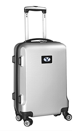 %29 OFF! Denco NCAA BYU Cougars Carry-On Hardcase Luggage Spinner, Silver