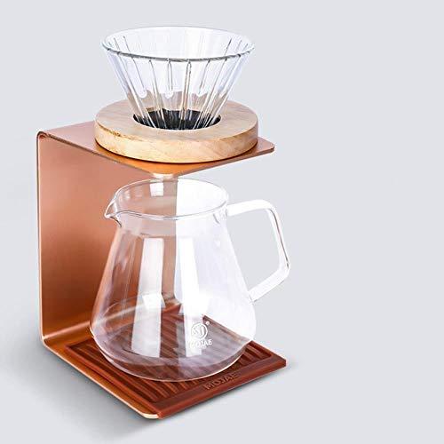 Drip-Type Hand-Koffie Quasi-Beugel Single-Cup Filter Cup Houder met Water Pad V60 Filter Cup Houder Kan Zet Elektronische Schalen Koffie Set 600ml