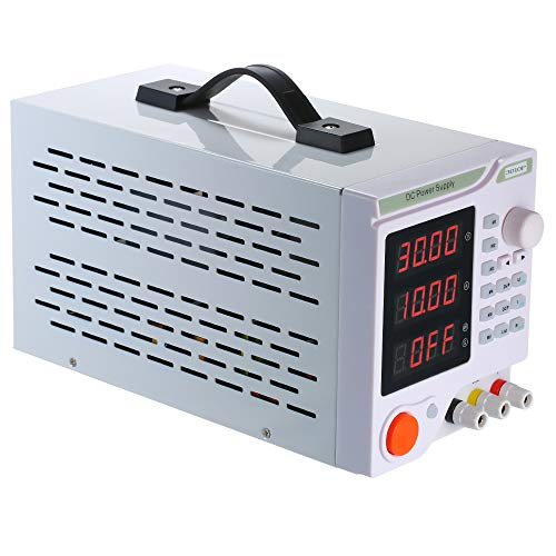 Find Discount QWERTOUY 3010P New Upgrade 4 Digit Display Adjustable DC Power Supply 30V 10A Voltage ...