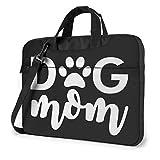 Dog Mom Logo Quakeproof Laptop Bag Briefcase Shoulder Messenger Bag Satchel Tablet Bussiness Carrying Handbag