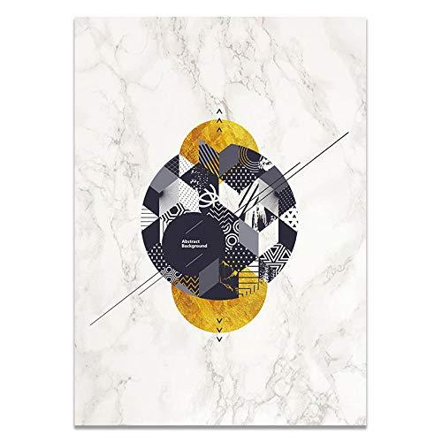 U/N Pinturas geométricas en Lienzo, Carteles nórdicos escandinavos en Blanco y Negro, Impresiones artísticas de Pared, Imagen al óleo para Sala de Estar sin Marco-7