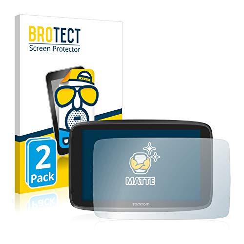 BROTECT 2X Entspiegelungs-Schutzfolie kompatibel mit Tomtom Go Camper/Tomtom GO Essential (6'') Matt, Anti-Reflex, Anti-Fingerprint