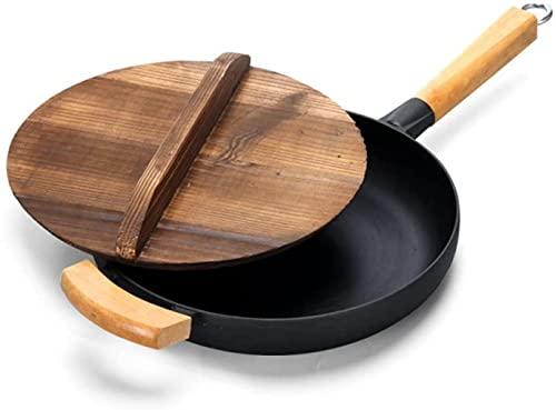 TINGFENG Wok Sartén, sartén antiadherente, sin humo aceitoso, sartén de cocina sana y segura, tortilla sin recubrimiento freír sartén (Size : 26cm)