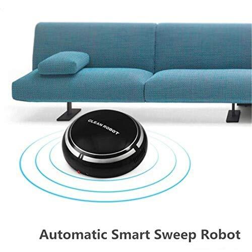 USB Recargable Smart Clean Robot Aspirador automático de Piso Limpiador de Barrido Hogar Recolector de Polvo de bajo Ruido(Negro)