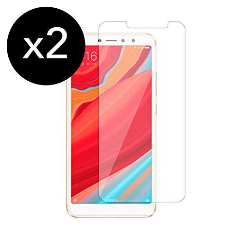 KSTORE365 [2 Piezas] Cristal Templado Xiaomi Redmi S2, Protector de Pantalla Xiaomi Redmi S2 Vidrio Templado con [Adhesivo En Todo El Cristal] [9H Dureza] [2.5D Borde Redondo] para Xiaomi Redmi S2