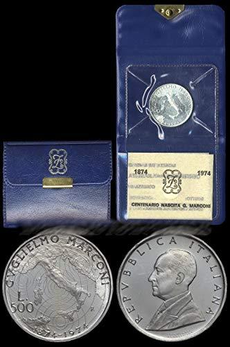 Italia 500 lire Argento'Guglielmo Marconi' (11 gr. - 29 mm.) anno 1974 UNA MONETA da collezione Silver Coin