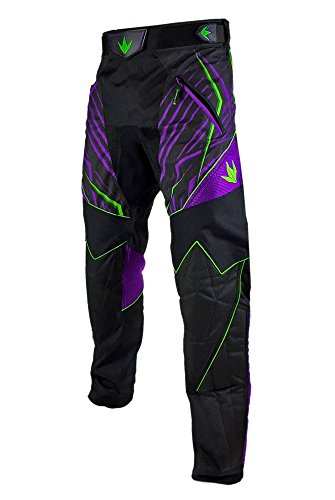 Bunker Kings Supreme Paintball Pants - Purple/Lime - XX-Large (2XL)
