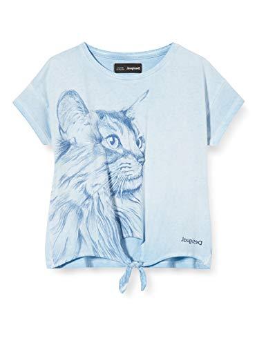 Desigual Mädchen TS_TUXTEPEC T-Shirt, Blau (Azul Palo 5002), 164 (Herstellergröße: 13/14)