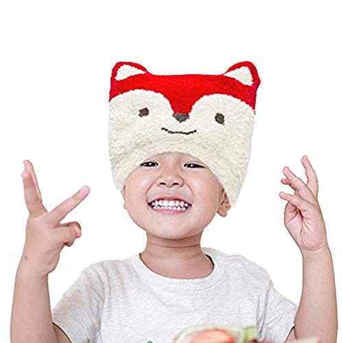 Winter Hat for Toddlers - Stretchable Fox Kids' Winter Hat - Unisex Toddler Beanies for Boys and Girls by Flipside Pillow - Red White