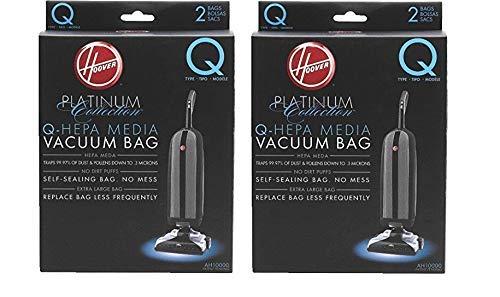 Hoover AH10000 Platinum Type-Q HEPA Vacuum Bag, Two 2-Packs: Total 4 Bags (4 Bags)