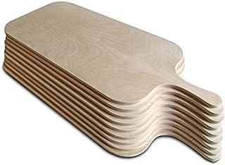 Stiel 56 cm in 3 Gr/ö/ßen erh/ältlich Gr/ö/ße M Gastro Spirit Flammkuchenbrett aus Holz Pizzaschaufel Pizzaschieber Gesamtl/änge inkl