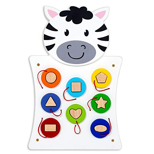 LEARNING ADVANTAGE - 50681 Learning Advantage Zebra Activity Wall Panel - 18M+ - in Home Learning Activity Center - Wall-Mounted Toy for Kids - Decor for Bedrooms and Play Areas