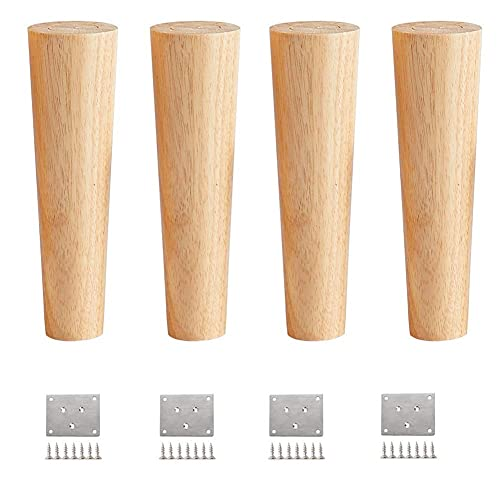 Reliable Set of 4 Furniture Legs, Couch Legs, Sofa Legs, Bed Risers, for Sofas in Solid Wood Conical in Reliable Wood with Wooden Furniture Legs for Furniture, Sofa, Bed(30cm(11in)) ( Size : 12cm )