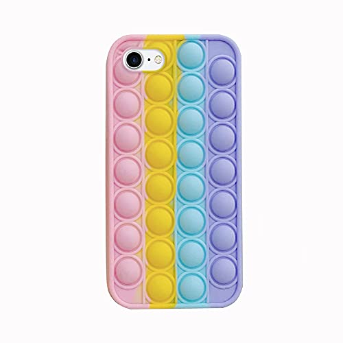 Bubble Phone Hülle, 3D Soft Stress Relief Fidget Toys Bubble Zappeln Sensory Toy Silikon Stoßfeste Schutzhülle Hülle Kompatibel mit iPhone 7/8, 7Plus/8 Plus, X/XS, XS Max, 11, 11Pro, 11 Pro Max