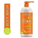 Alba Botanica Very Emollient Island Citrus Bath & Shower Gel, 32 oz.