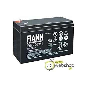 FG21201 Amperaggio 12 Ah Fiamm Batteria Serie FG 12V Alimentazione di emergenza UPS Collegamento Faston 187 piatta di 4,8 mm