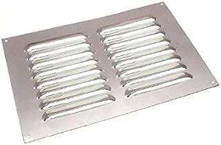 Aluminium Louvre Air Vent Ventilator Grille Cover 9 X 6 225Mm X 150Mm