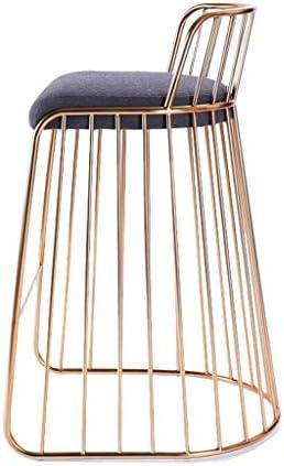 KAI LE Chaise/Petit siège/Personnalité Minimaliste Moderne Chaise Longue en Or Chaise en Fer forgé créative Chaise de Mode à la Maison Chaise à dîner (Taille : No backrest)