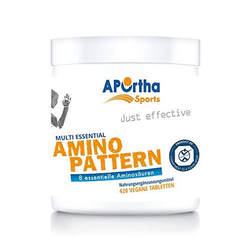 APOrtha Sports Multi essential Amino Pattern I 420 Tabletten mit 8 essentiellen Aminosäuren nach Prof. Dr. Lucà- Moretti für eine optimierte Eiweißversorgung I Aminosäuren komplex hochdosiert EAA