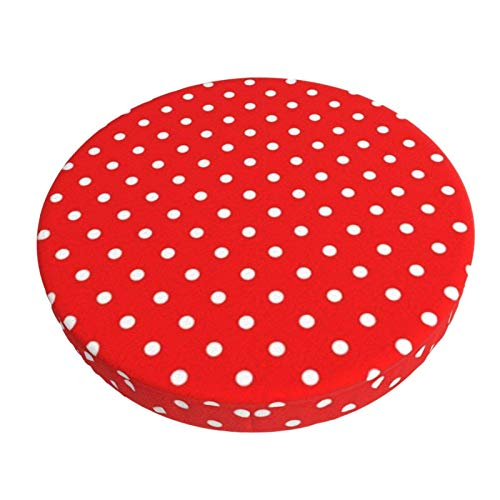 Round Bar Stools Cover,Rot Mit Rot Mit Weißen Tupfen,Stretch Chair Seat Bar Stool Cover Seat Cushion Slipcovers Chair Cushion Cover Round Lift Chair Stool