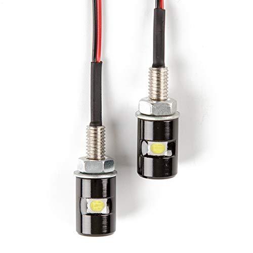 HERCHR Motorrad Lampen, Motorrad Kennzeichenbeleuchtung Mini Kennzeichenbeleuchtung Schraube Lampe für Motorräder (5050 Flachkopf)