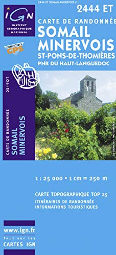 Somail / Minervois / St-Pons-de-Thomieres PNR GPS: Ign.2444et