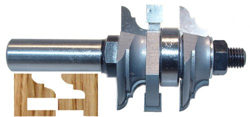 Magnate 9009B One Piece Stile and Rail Router Bit - Cove & Bead Profile; 1-1/8' Cutting Height