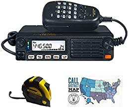 Bundle - 3 Items - Includes Yaesu FTM-7250DR Dual Band 144/430 MHz 50W Digital/FM Analog Moblie Transceiver with The New Radiowavz Antenna Tape (2m - 30m) and HAM Guides Quick Reference Card