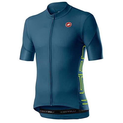 CASTELLI - Entrata V, Camiseta para Hombre, Hombre, Camiseta, 4520019, Vortex Gray, S