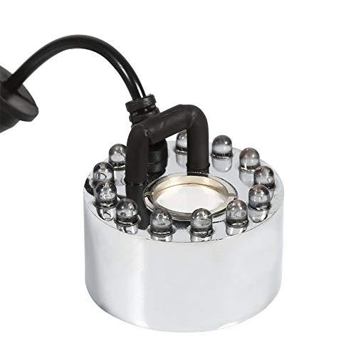Akozon Nebel-Hersteller, Ultraschallnebel-Hersteller-Wasser-Brunnen-Teich-Zerstäuber-Luftbefeuchter 12 LED 24V Farbe ändert(Three-Color Gradient Atomizer)