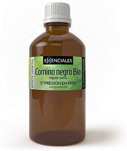Essenciales - Aceite Vegetal de Comino Negro BIO, 100% Puro y Certificado ECOLÓGICO, 100 ml | Aceite Vegetal Nigella Sativa L, 1ª Presión Frío