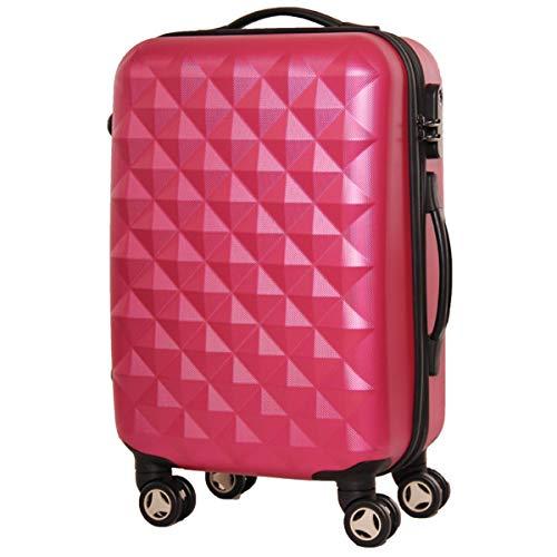XIANGSHAN Estuche de Trolley con Forma de Diamante ABS, Bolsa de Equipaje de súper Almacenamiento, Cabina rodante de Rueda Duradera, 20'24' Pulgadas (Color : Purple, Size : 24inch)