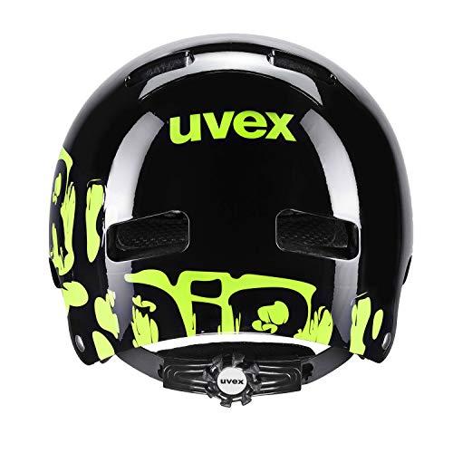 Uvex Kinderfahrradhelm Kid 3 Sonderedition, Dirtbike Black-Lime, Gr. 51-55 cm - 3