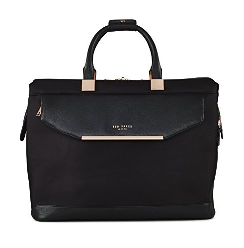 Ted Baker Women's Albany Softside Luggage, Suitcase Collection (Black, Holdall Bag)