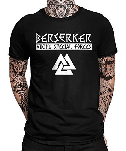 Viking Valhalla Odin Thor Nordmann Wolf - Camiseta de manga corta para hombre y mujer Wikinger 10 Berserker - Camiseta para hombre S