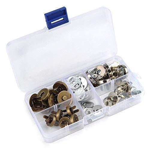 Magnetische Druckknöpfe mit Magnetverschluss - zum Nähen, Stricken, für Handarbeiten, Handtaschen, Taschen, Bekleidung, Leder