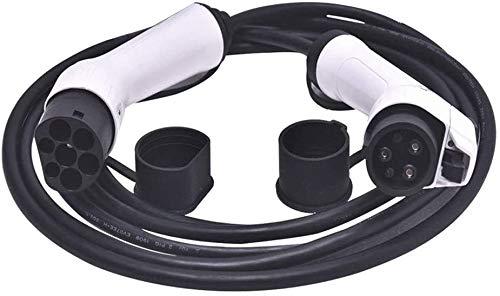TOPQSC Cables de carga - Tipo 2 a Tipo 2 - 32A - Trifásico - 22KW