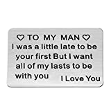 Engraved Wallet Inserts I Was a Little Late to Be Your First Love Note...