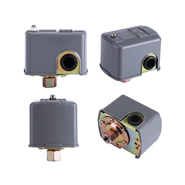 Interruptor de bomba de agua de 110 V-230 V 40 – 60 PSI interruptor de doble muelle ajustable para control de presión