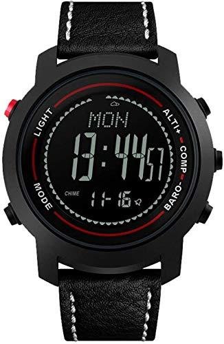 JSL Reloj deportivo LED multifuncional para hombre, con altímetro, barómetro, resistente al agua, 50 m, función brújula, apto para aventuras de montaña A-A