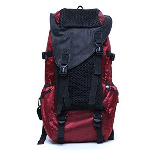 TY-Outdoor backpack MMM @ Impermeable Senderismo Mochila, Poliéster Mochila Al Aire Libre Deporte Viaje Trekking Correr Mujeres Mochila