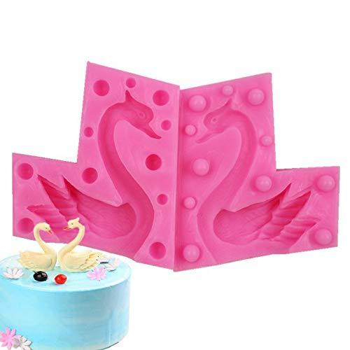 3D-Silikon-Kuchenform, Schwan, 3D-Schokolade, Schokolade, Backform, DIY, 3D-Schwan, 2 Stück