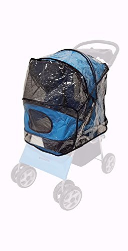 Transparent Rain & Wind COVER (only!) for foldable Dog Stroller/Pet...