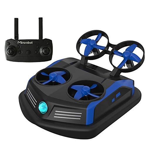 Goolsky S200 Mini Drone Telecomando Barche Auto 3-in-1 modalità Sea-Land-Air Commutabile Impermeabile Hovercraft Giocattolo Quadricottero RC One Button Flip Over Low Pressure Alarm