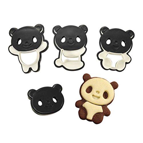 BESTonZON Ausstechformen-Cute Panda Cartoon Keks Cutter Form Set für DIY Backen Kuchen Sugarcraft Backformen Dekoration
