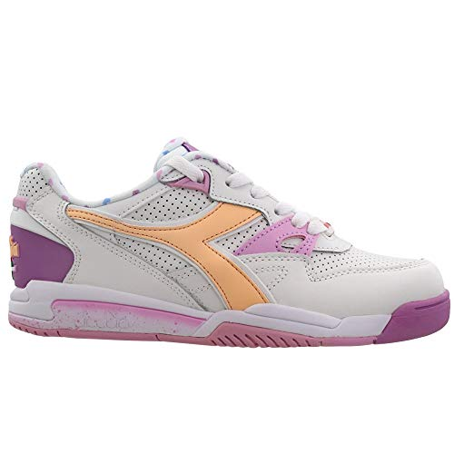 Diadora Womens Rebound Ace Valentine 2 Lace Up Sneakers Shoes Casual - White - Size 5.5 B